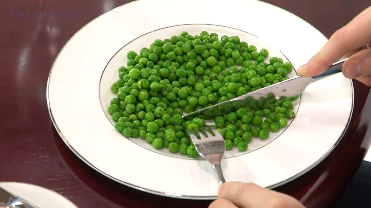 Eating peas politely
