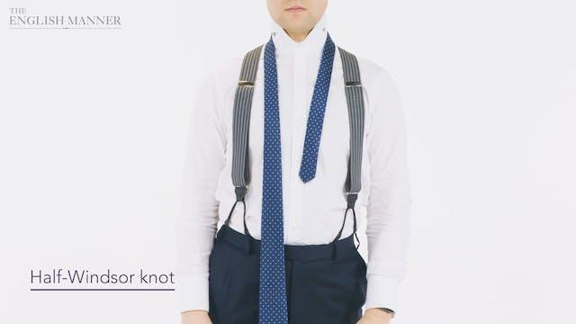 Tying a neck tie