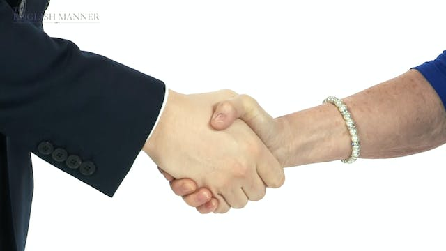 The perfect handshake and introducing yourself