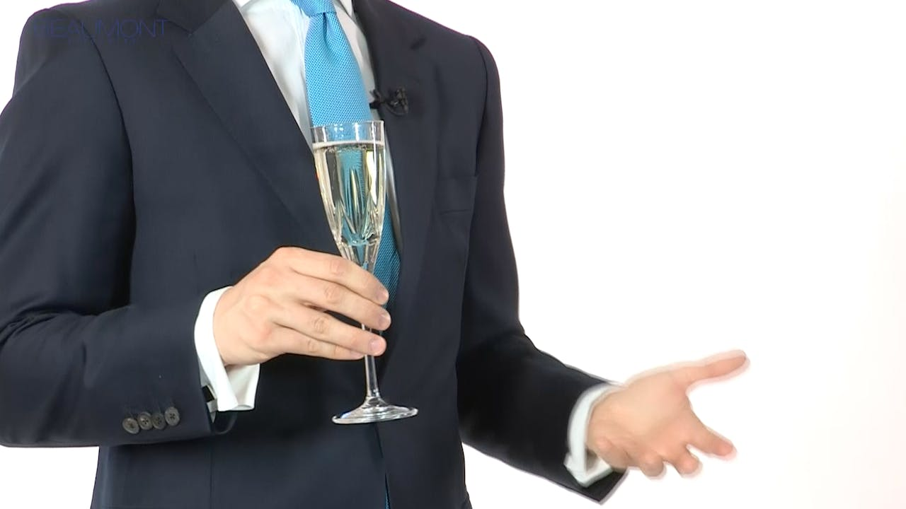 Drinking politely and holding a wineglass