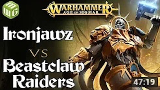 Ironjawz vs Beastclaw Raiders Age of Sigmar Battle Report - War of the Realms
