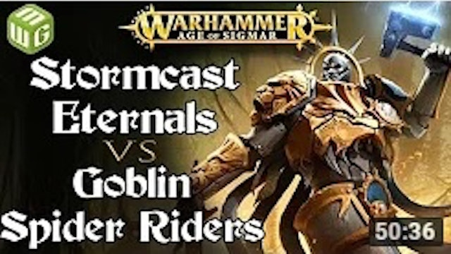 Eternals vs Goblin Spider Riders Age of Sigmar Battle Report - War of the Realms