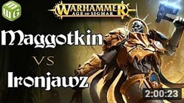 NEW Maggotkin vs Ironjawz Age of Sigmar Battle Report - War of the Realms