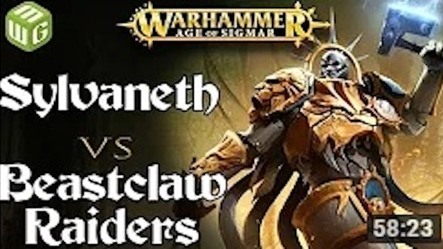 Sylvaneth vs Beastclaw Raiders Age of Sigmar Battle Report - War of the Realms