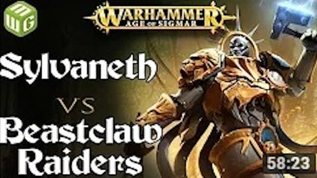 Sylvaneth vs Beastclaw Raiders Age of...