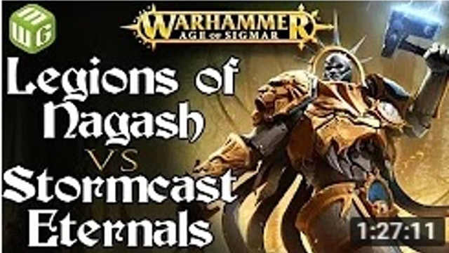 Legions of Nagash vs Stormcast Eternals Age of Sigmar Battle Report
