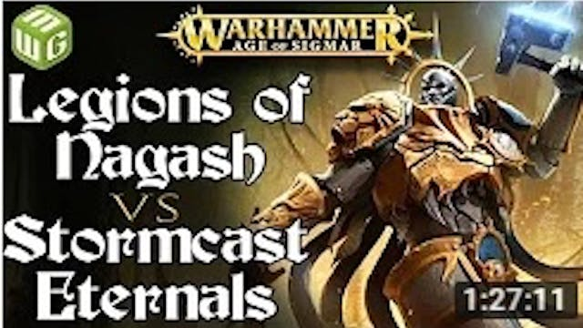 Legions of Nagash vs Stormcast Eterna...