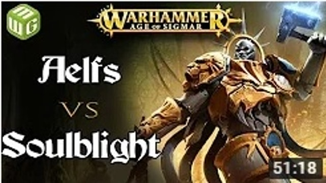 Aelfs vs Soulblight Age of Sigmar Battle Report - War of the Realms