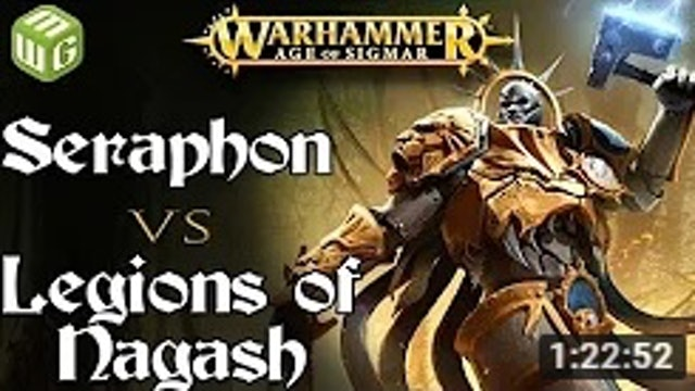 Seraphon vs Legions of Nagash Age of Sigmar Battle Report - War of the Realms
