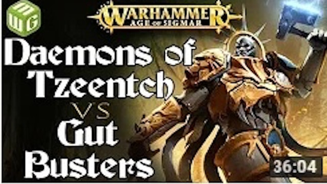 Daemons of Tzeentch vs Gut Busters Age of Sigmar - War of the Realms