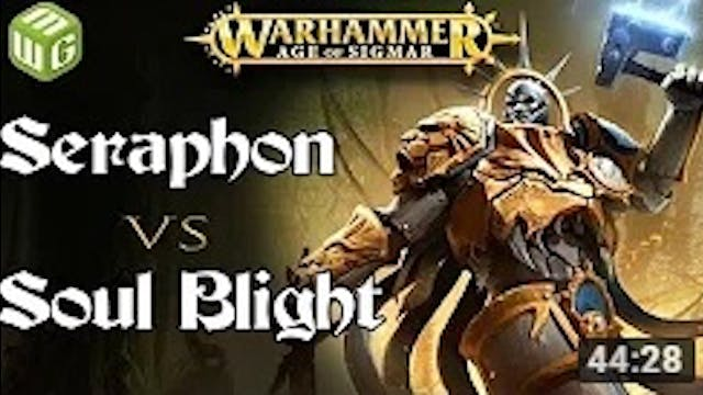 Seraphon vs Soul Blight Age of Sigmar...