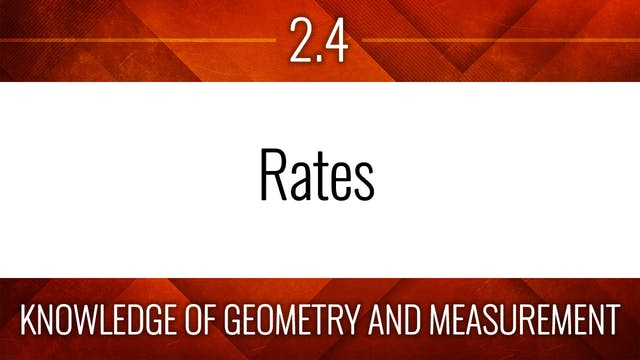 Competency 2.4 – Rates
