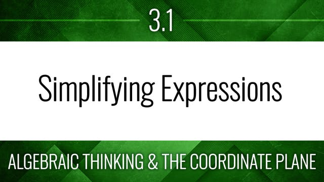 Competency 3.1 – Equivalent Expressions