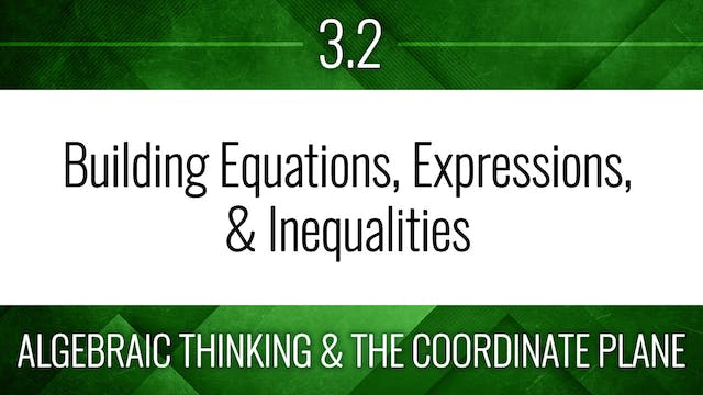 Competency 3.2 – Building Equations, Expressions, & Inequalities Word Problems