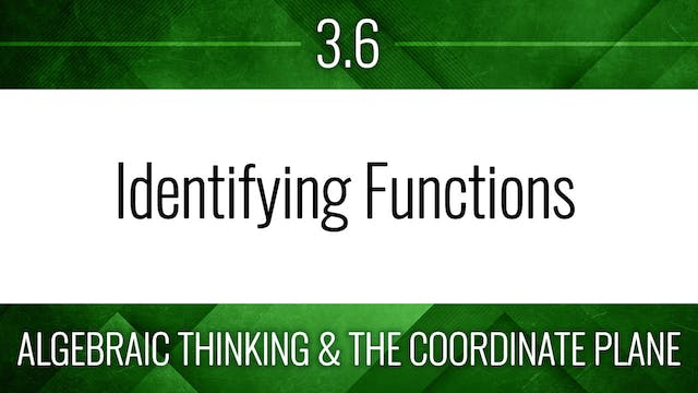 Competency 3.6 – Functions