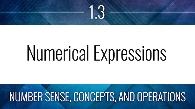 Competency 1.3 – Evaluate Expressions