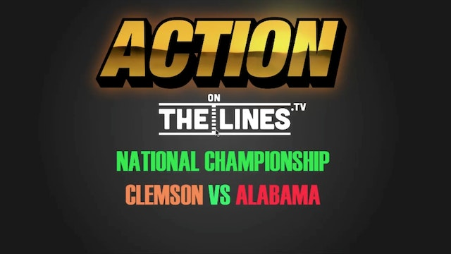 CFB- CLEM VS BAMA- JAN 9