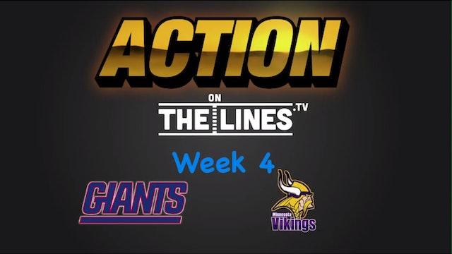 NFL: NYG vs Min- Oct 3