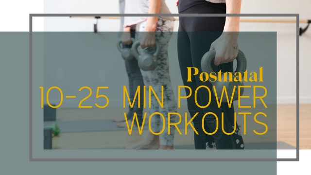 10-25 Min Power Workouts