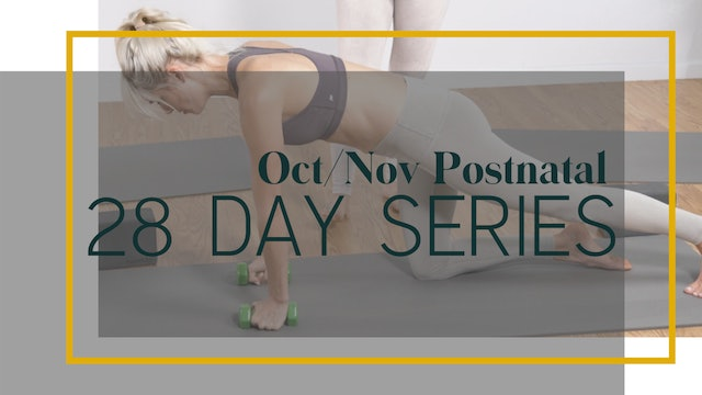Oct/Nov Postnatal 28 Day Series