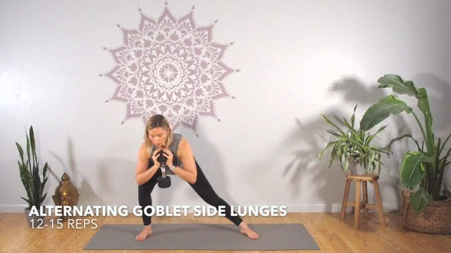 Exercise 4 // Alternating Goblet Side Lunges