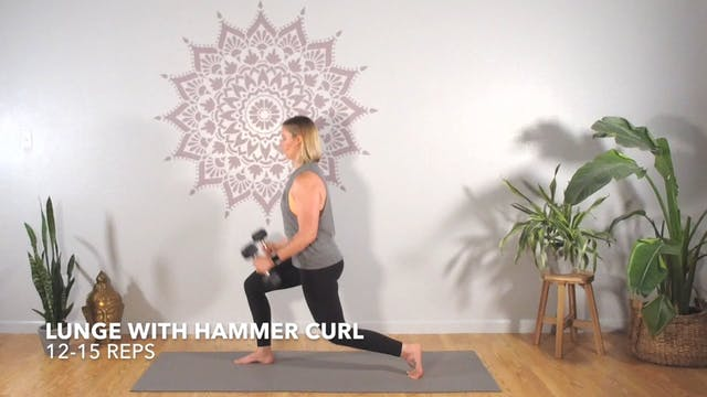 Exercise 1 // Lunge With Hammer Curl