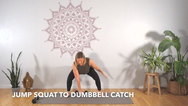 Circuit 1 // Exercise 3 ~ Jump Squat to Catch
