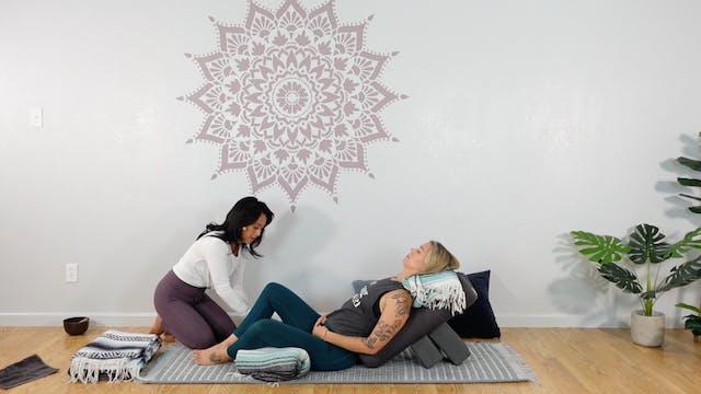 Restorative Yoga - Supta Baddha Konasana