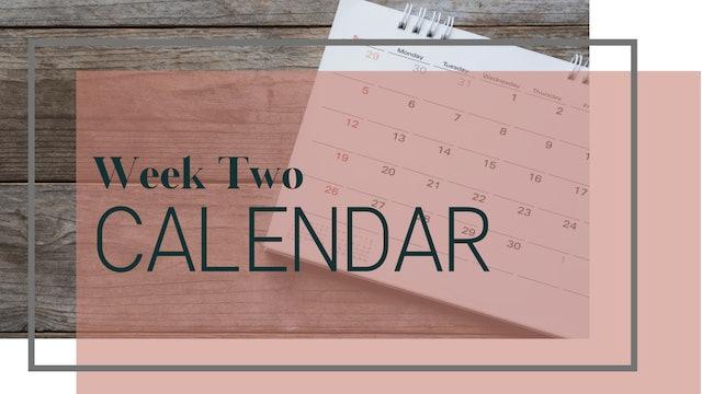 Core Strength & Sculpt Week 2 Calendar (PDF)