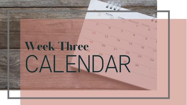 Core Strength & Sculpt Week 3 Calendar (PDF)