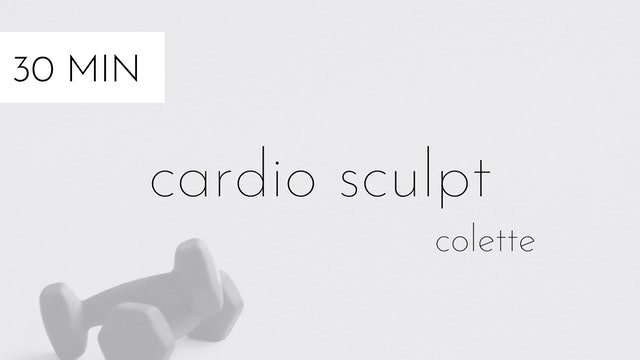cardio sculpt #20   colette