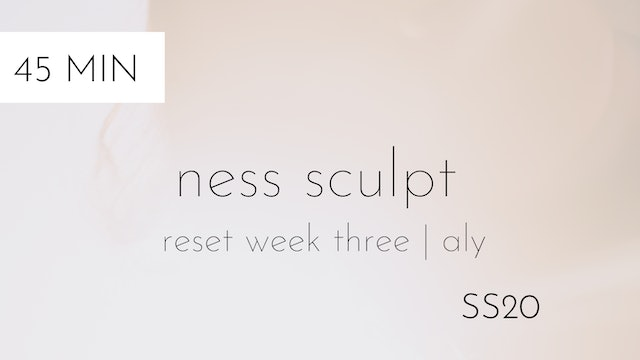 ss20 reset week three | ness sculpt #2 with aly