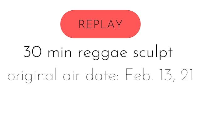 LIVE reggae mat sculpt 2.13.21 | shaina