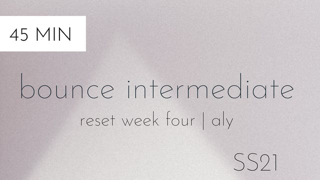 ss21 reset week four | bounce interme...