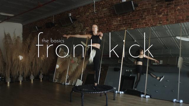 the basics - front kick