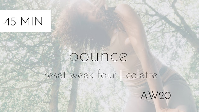 aw20 reset week four | bounce intermediate #2 with colette