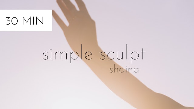 simple sculpt #1 | shaina