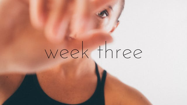 bounce beginner/intermediate track week three - connection