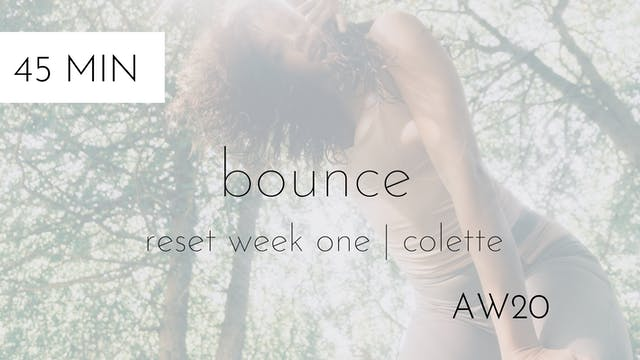 aw20 reset week one | bounce intermed...