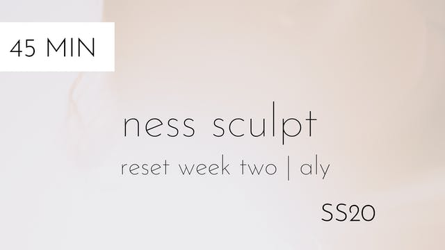 ss20 reset week two | ness sculpt #3 with aly