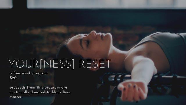 your[ness] reset summer 2020 | four week program