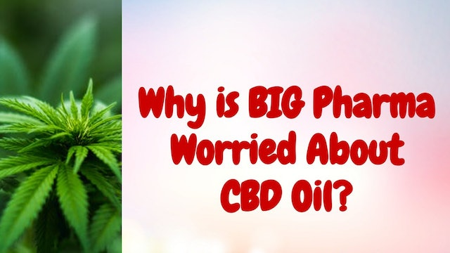 Why is BIG Pharma Worried About CBD Oil?