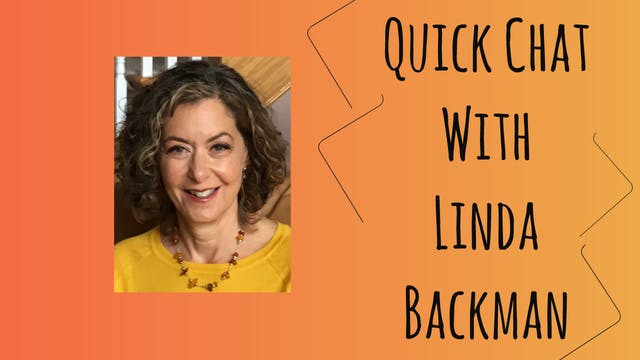 Quick Chat with Linda Backman