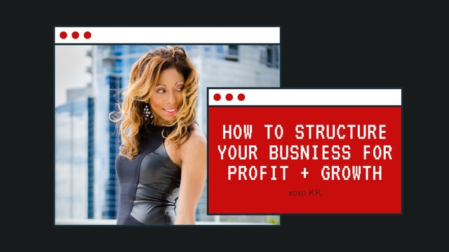 How to structure your business for profit + growth