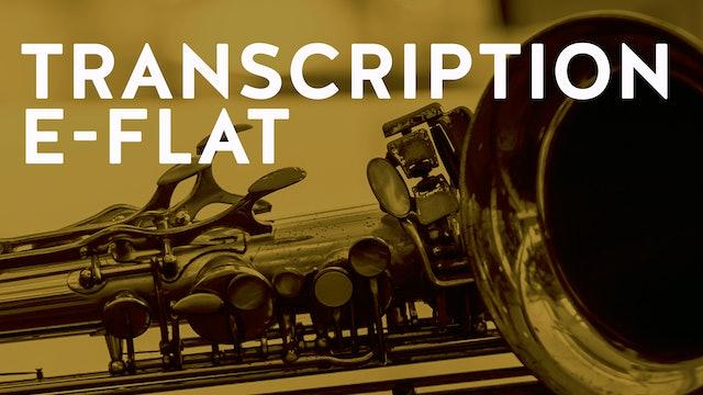 COLEMAN HAWKINS Transcription E FLAT (PDF)