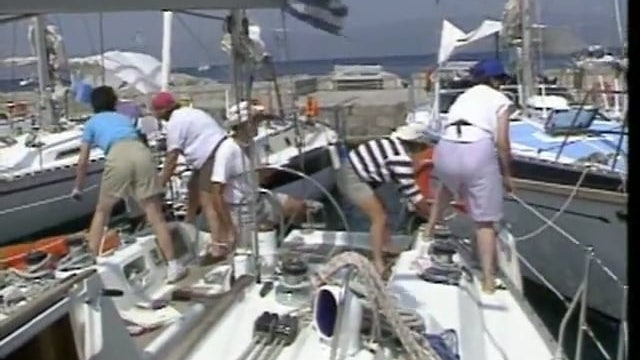 303F: Anchoring under Sail and Med Moor