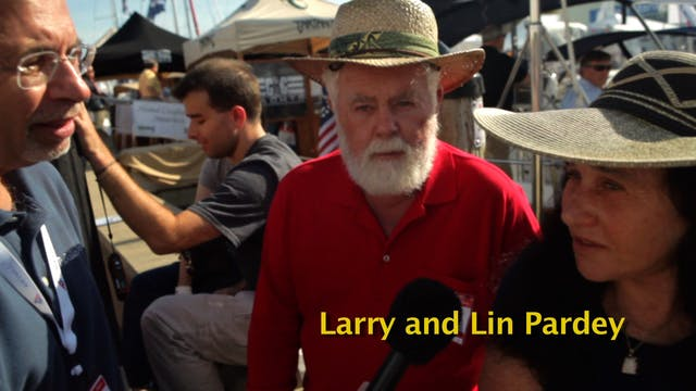 Lin & Larry Pardey at the 2011 U.S. S...