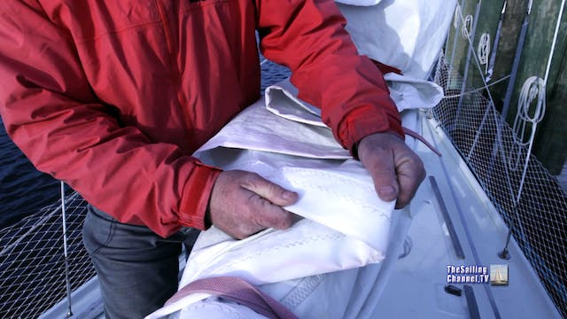 Sail Repair: Pt 5 - Bend on Sail