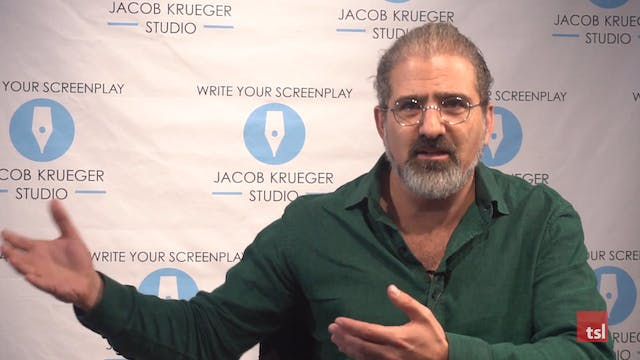 Jacob Krueger, Screenwriting Instructor