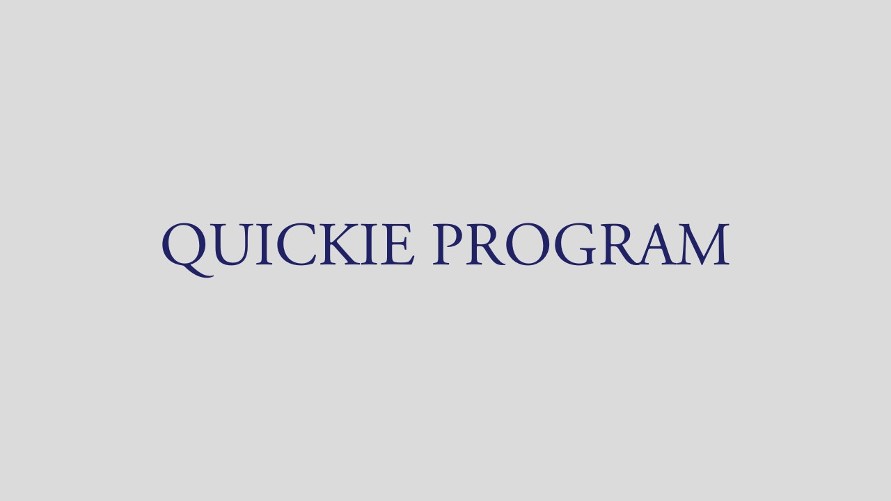 QUICKIE PROGRAM